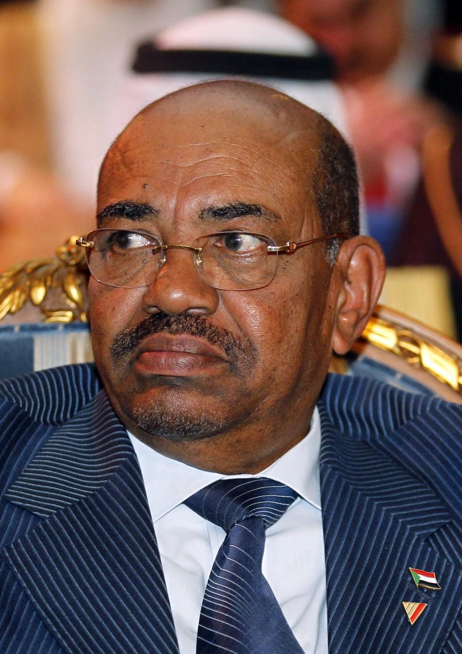 Sudan's President Omar Hassan al-Bashi