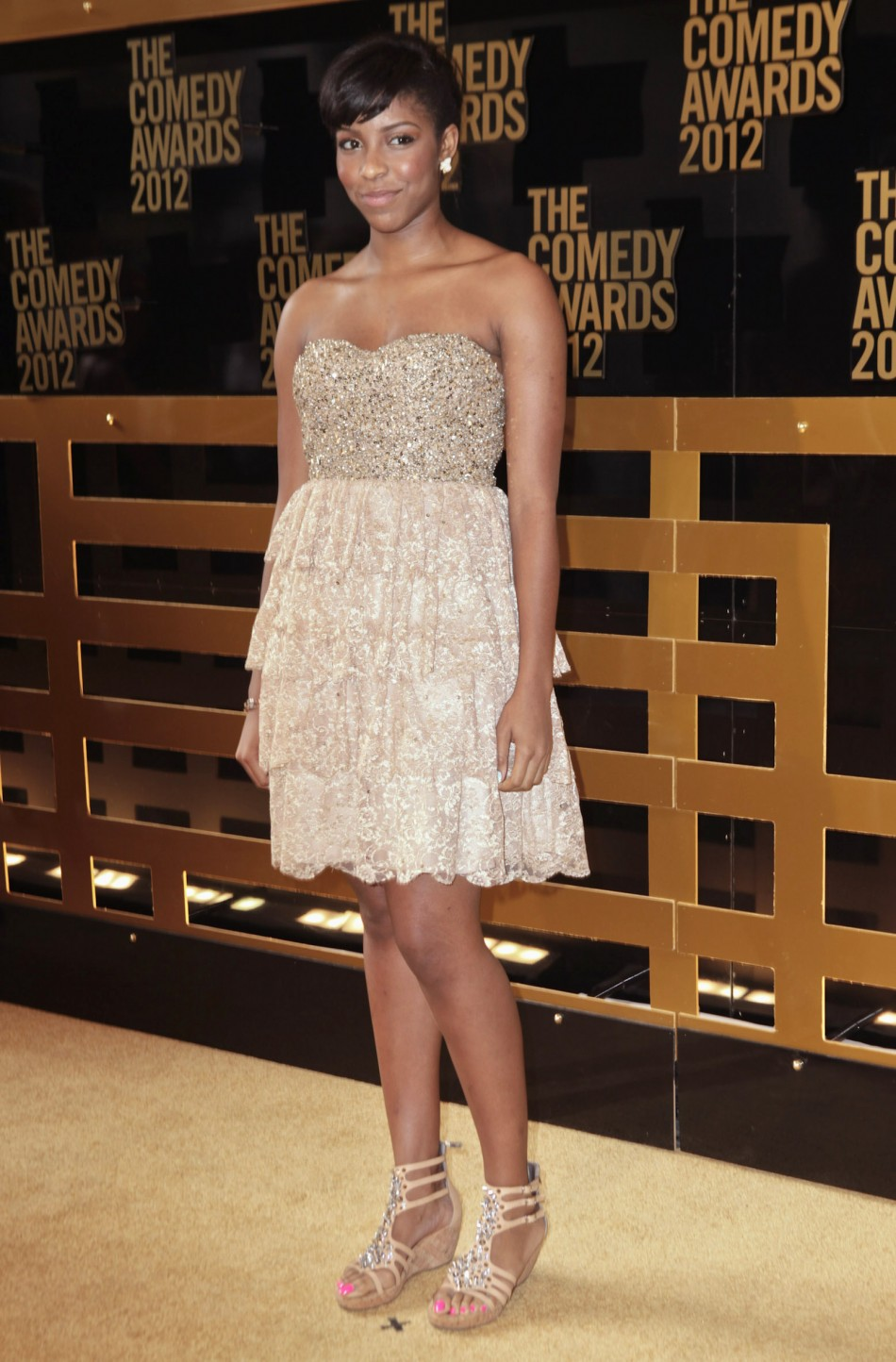 Actress Jessica Williams arrives at the Comedy Awards 2012 in New York City