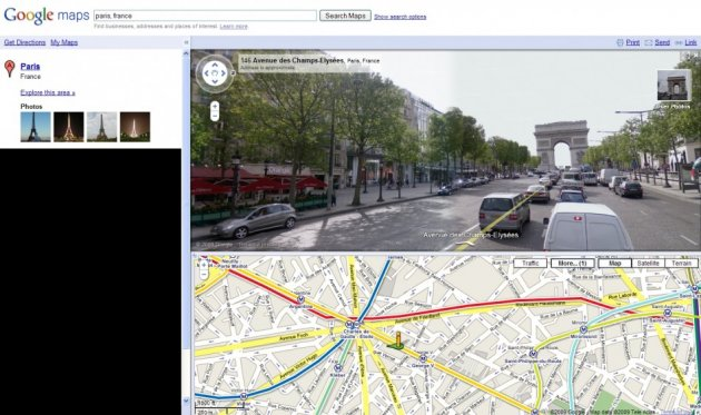 Google StreetView in Maps