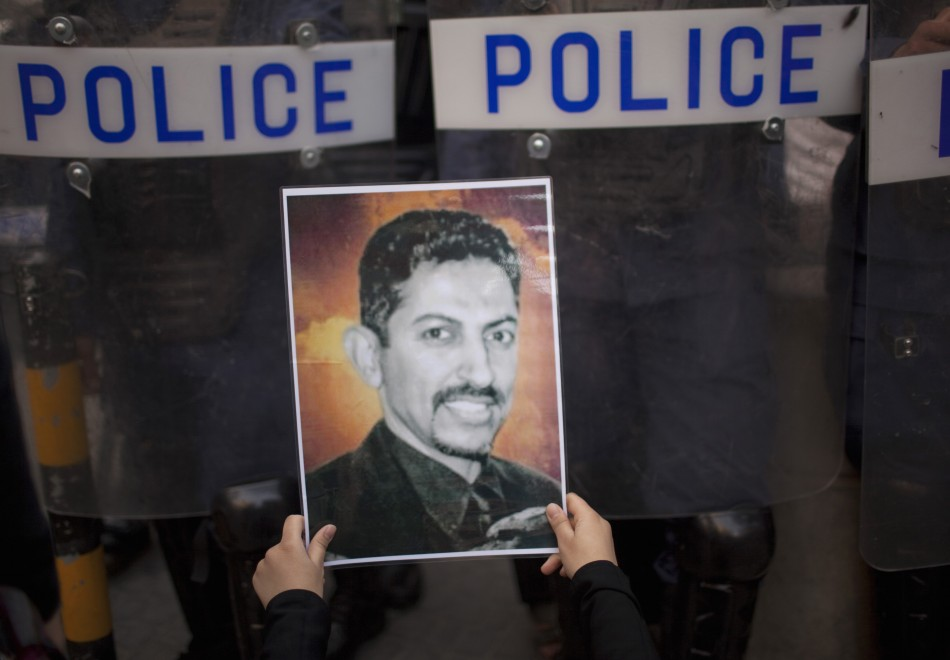 Bahraini hunger striker al-Khawaja attends court in wheelchair for retrial in capital Manama