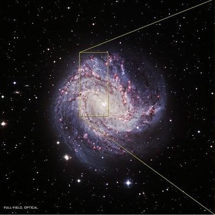 Optical image of M83