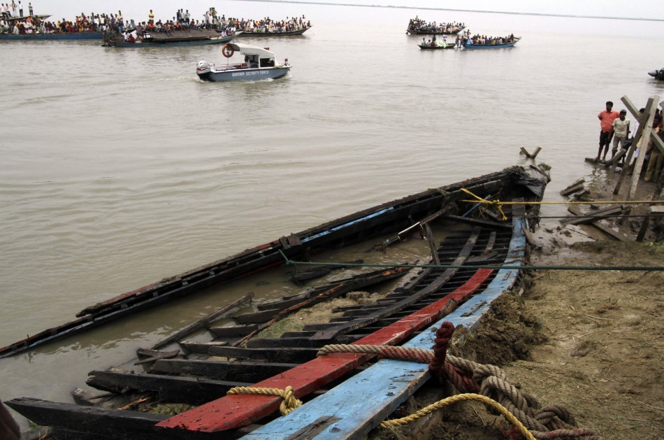 The ferry sank on the Brahmaputra river, in the north-eastern Indian state of Assam. (Reuters)