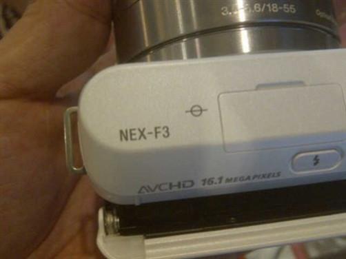 Sony NEX-F3 Compact System Camera close up