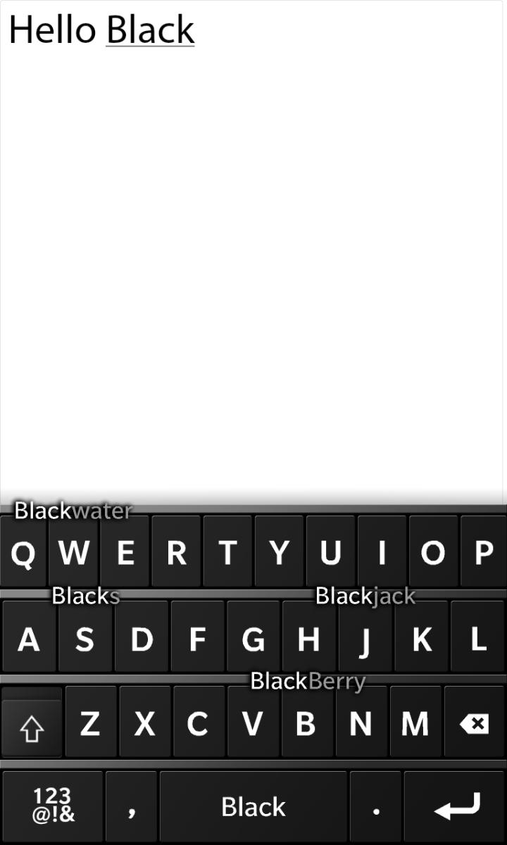 BB10 Keyboard