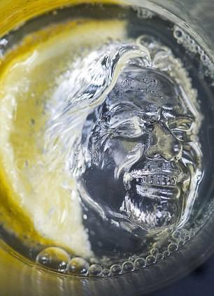 Cool or Creepy Severed Richard Branson Head Floating on Virgin Atlantic Cool Drinks