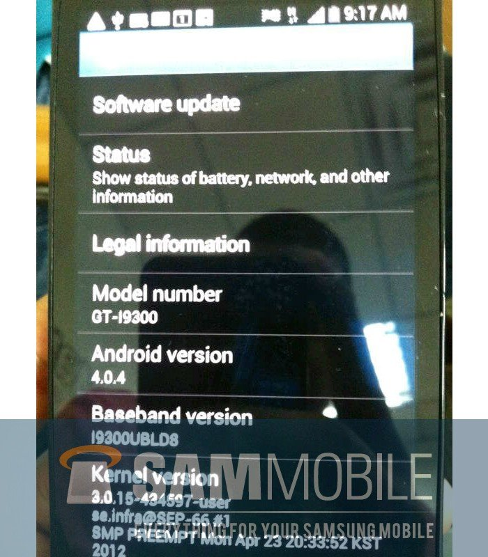 Another New Leaked Image of Samsung Galaxy S3: Is it Real or Fake?