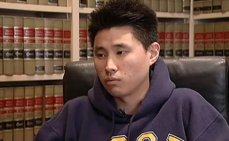 Daniel Chong was forced to drink his urine after he was left in a cell for five days. (NBC)