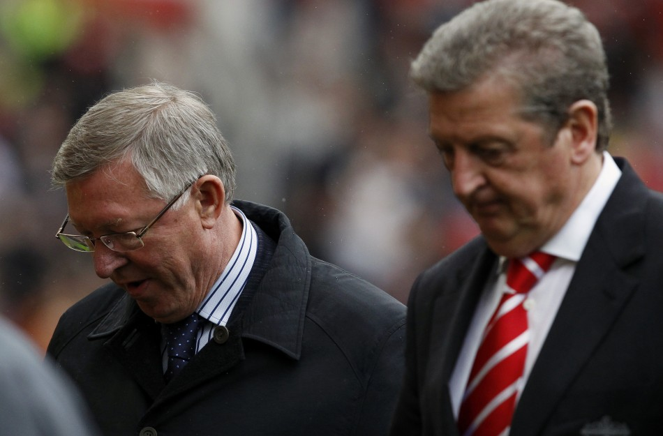 Sir Alex Ferguson with Roy Hodgson