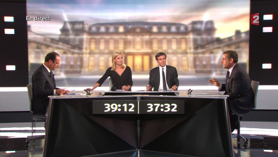 French live TV debate