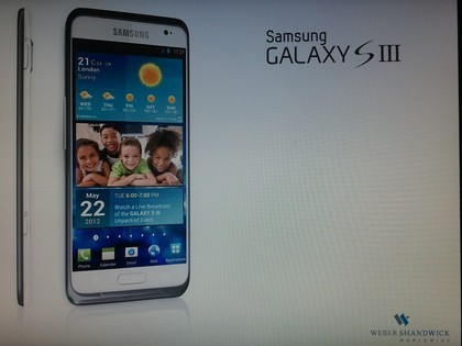 Samsung Galaxy S3 Launching on 3 May