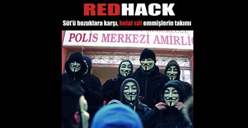 RedHack leaves message on site of Turkish milk company