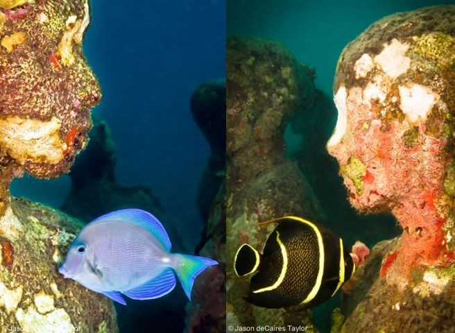 Artificial 'Human Reef' in Cancun Sea