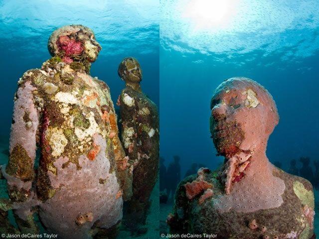 Artificial Human Reef in Cancun Sea