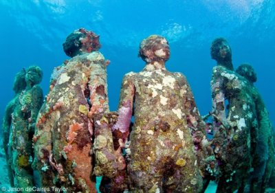 Artificial Human Reef in Cancun Sea