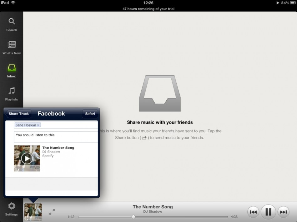 Spotify for ipad 2012 free share on Facebook