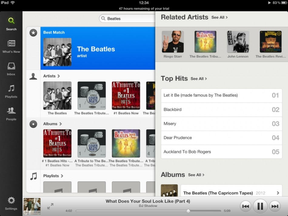 Spotify for ipad 2012 free The Beatles