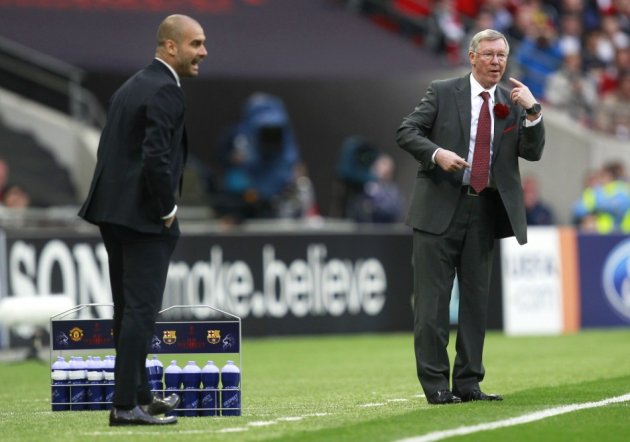 Sir Alex Ferguson and Pep Guardiola