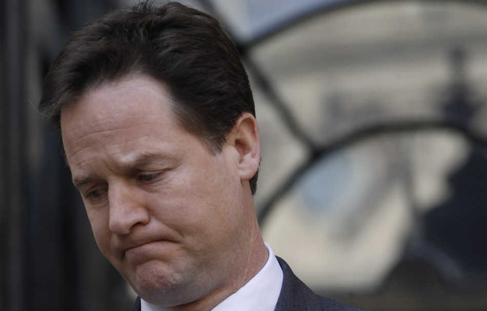 """Deputy prime minister Nick Clegg said he was """"really sad"""" at his party's election results"""