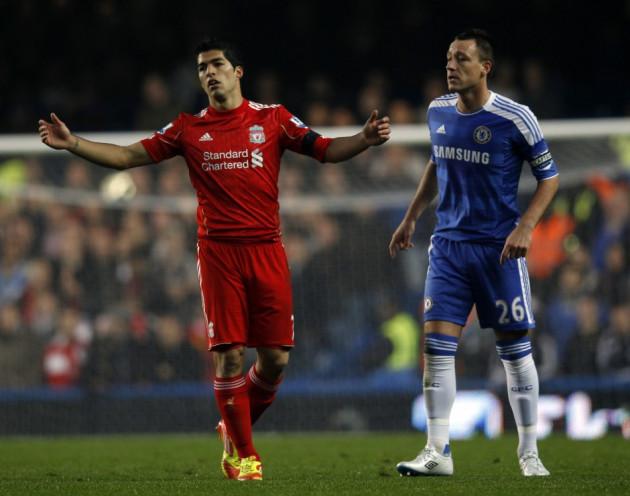 Luis Suarez and John Terry