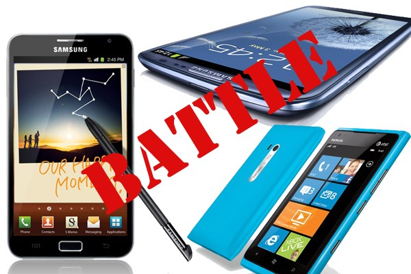 Samsung Galaxy S3 vs Galaxy Note vs Lumia 900