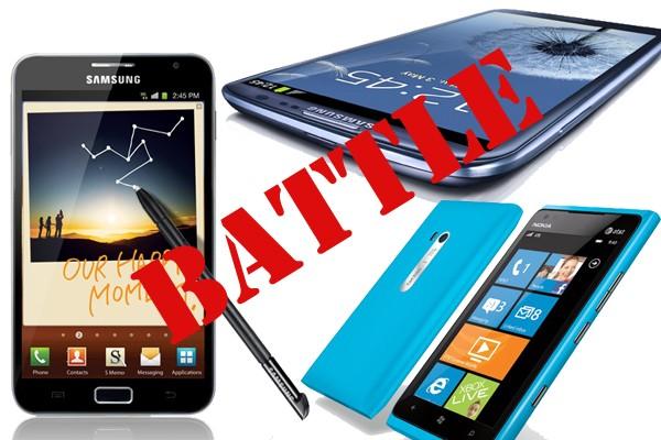 Samsung Galaxy S3 vs Galaxy Note vs Lumia 900