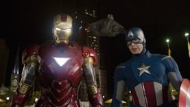 Iron Man (Robert Downey Jr.) and Captain America (Chris Evans) of 'The Avengers'