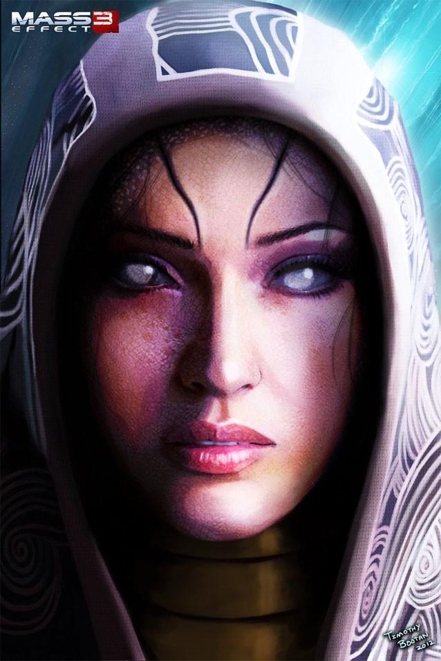 Tali's Face Concept Art Photo