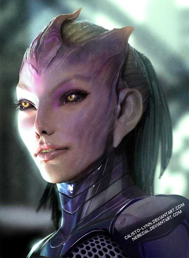 Tali's Face Concept Art