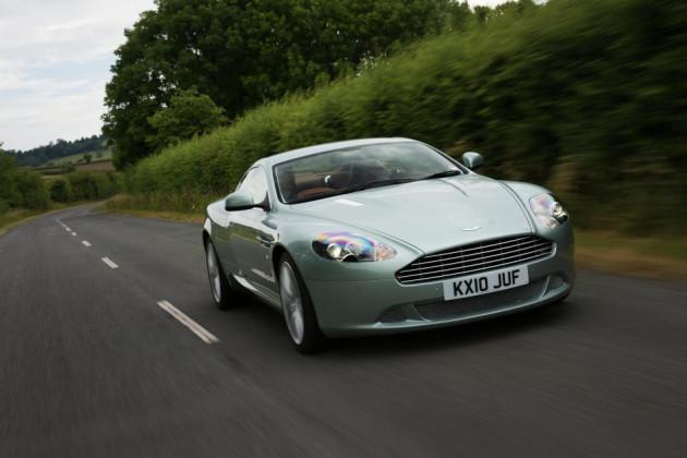 An Aston Martin DB9 car