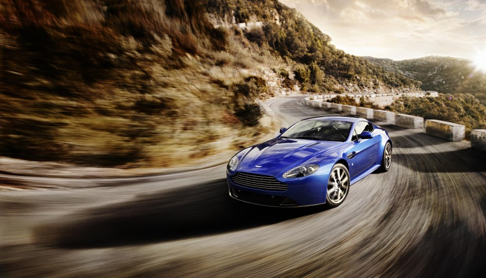 An official release photo of Aston Martin Vantage car.