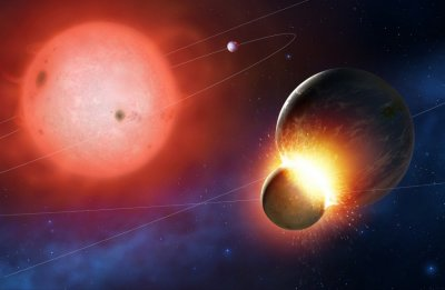 Collision of planets in Distance Future