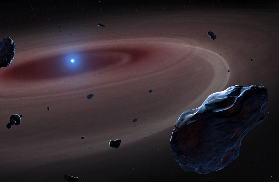 White Dwarf Gulping down Planetary Bodies