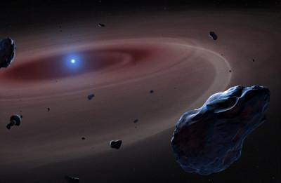 White Dwarf Gulping down Planetary Bodies