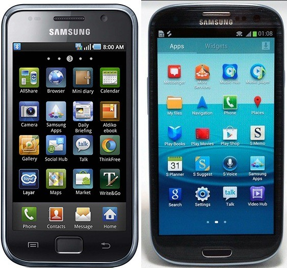 Galaxy S and S3