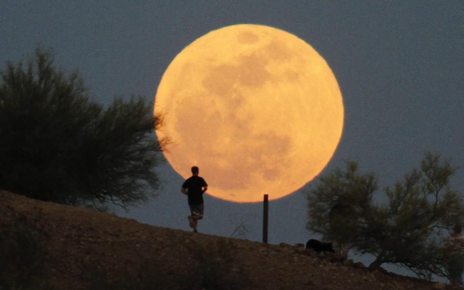 Super Moon at Papago Park in Phoenix