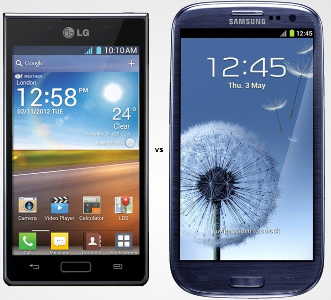 Samsung Galaxy S3 and LG Optimus L7