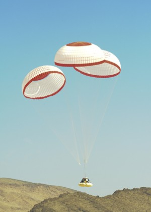 Boeing Completes Parachute Drop Test for Crew Space Transportation Spacecraft