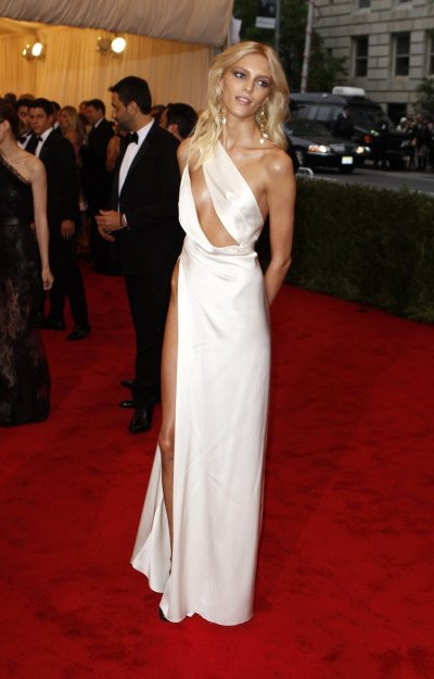 Model Anja Rubik of Poland arrives at the Metropolitan Museum of Art Costume Institute Benefit in New York