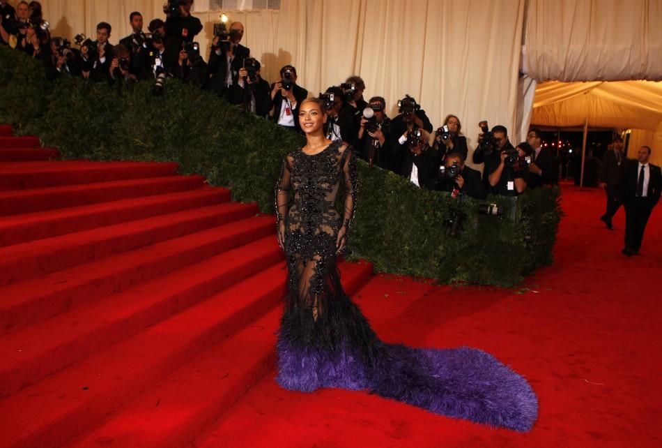 Singer Beyonce arrives at the Metropolitan Museum of Art Costume Institute Benefit in New York
