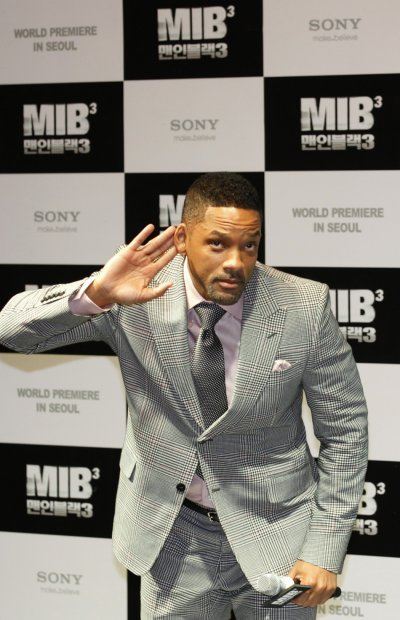 Will Smith gestures during the world premiere, a red carpet event, for his film quotMen in Black IIIquot at a theatre in Seoul
