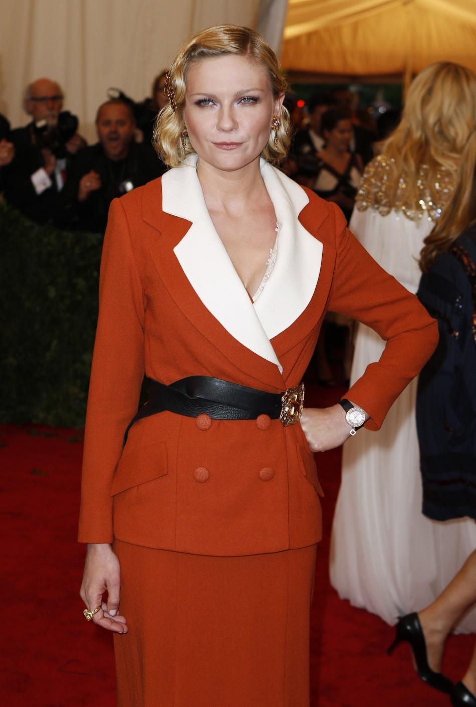 Actress Kirsten Dunst arrives at the Metropolitan Museum of Art Costume Institute Benefit in New York