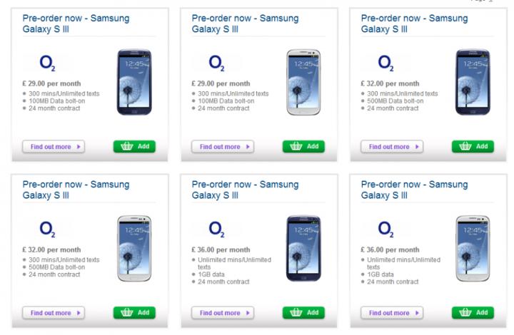 Samsung Galaxy S3 Deals