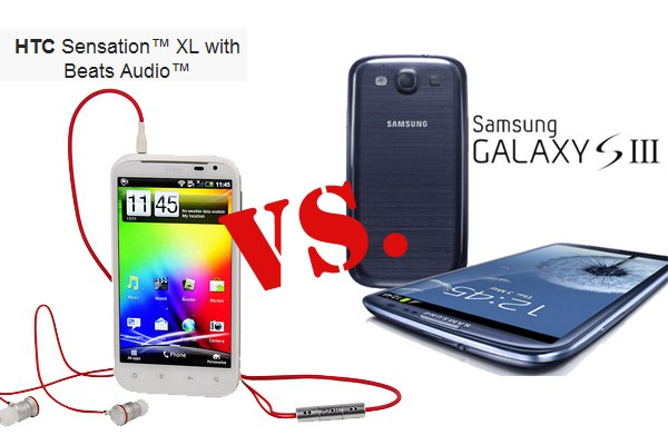 Samsung Galaxy S3 vs HTC Sensation XL