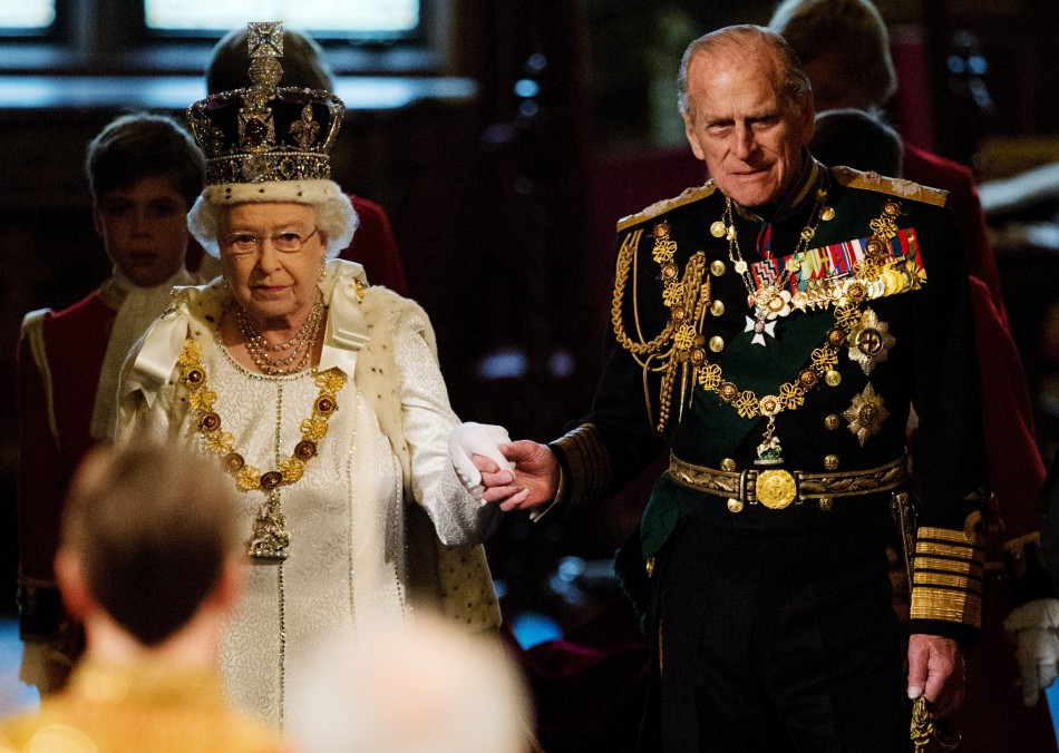 Queen Elizabeth II Addresses at the 2012 State Opening of Parliament