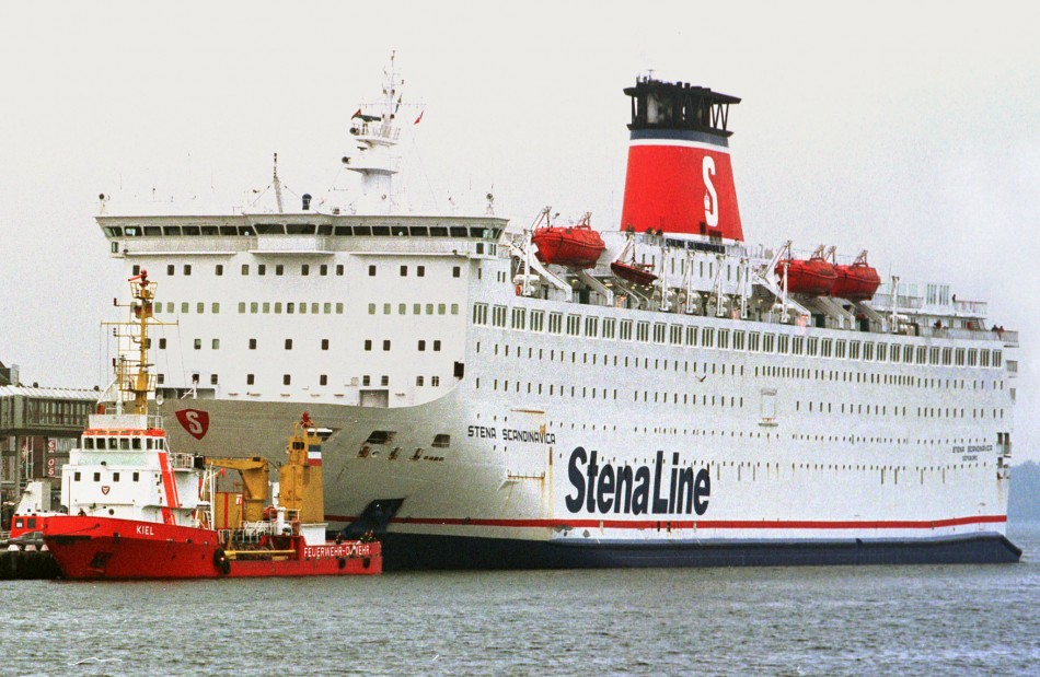 The missing baby reportedly fell from a Stena Line vessel in Belfast