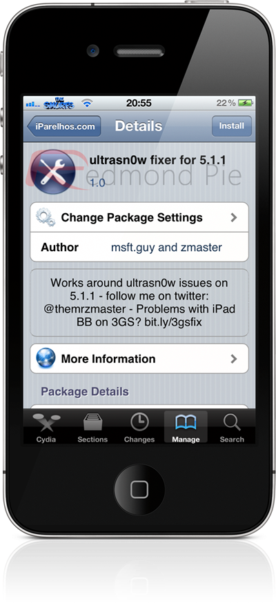Ultrasn0w Fixer for iOS 5.1.1 Repo Package