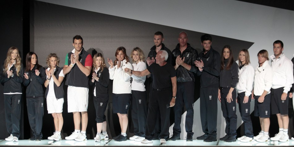 Designer Giorgio Armani Unveils Official Olympic Uniforms of Italy