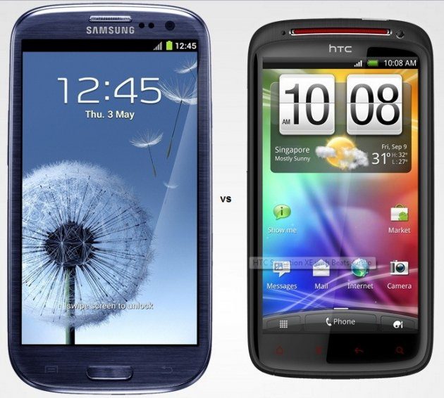 Samsung Galaxy S3 and HTC Sensation XE
