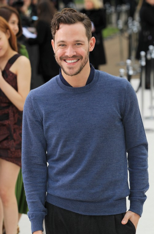 Singer Will Young arrives at the Burberry 2012 Autumn/Winter womenswear collection show during London Fashion Week in London