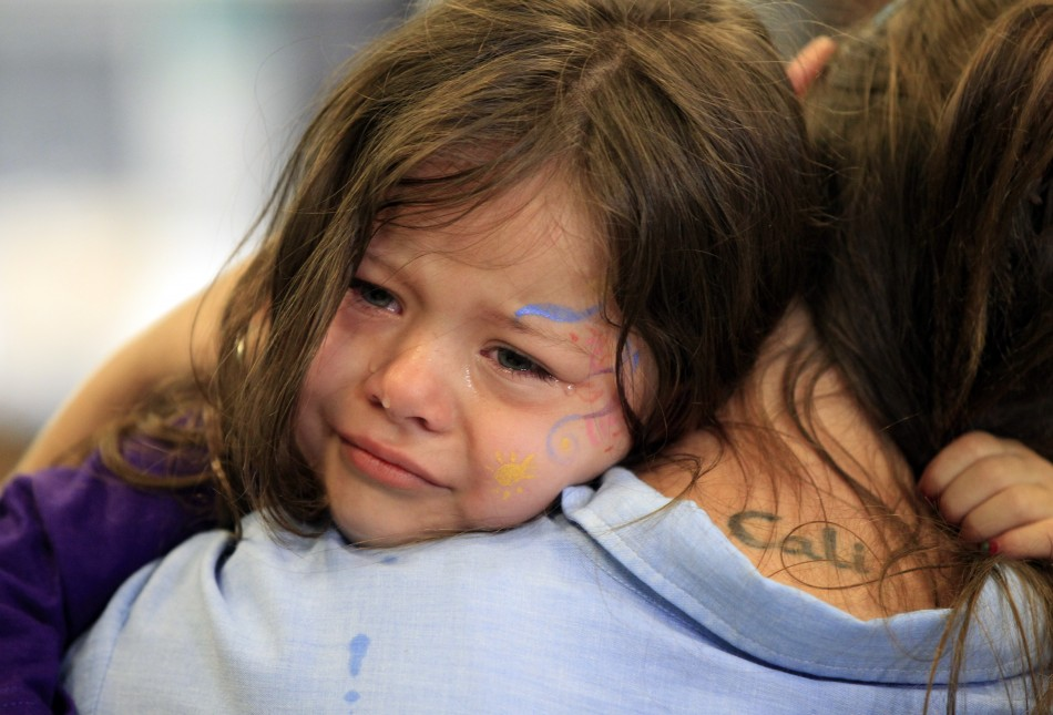 Image result for picture of a little boy weeping over the shoulder of mom